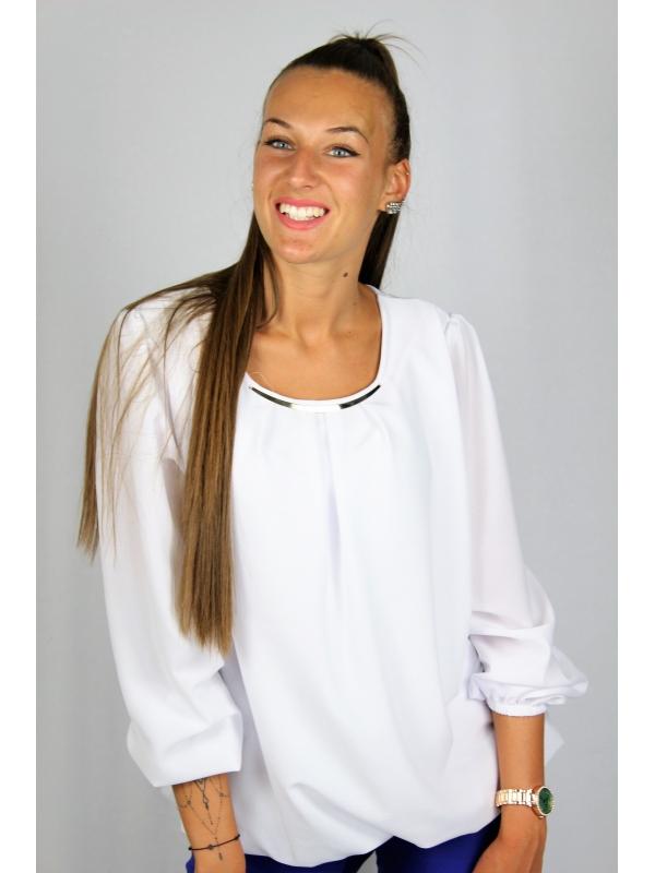 Блуза креп шифон бяла