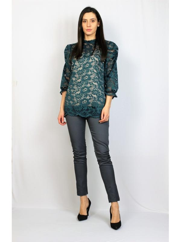 Блуза дантела зелена