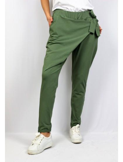 Панталон с прехвърляне зелен