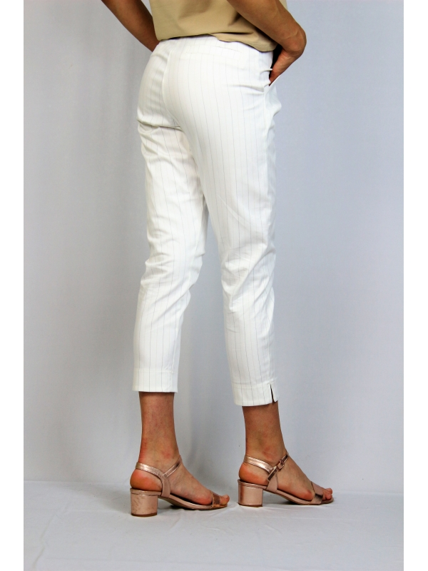 Панталон бял райе