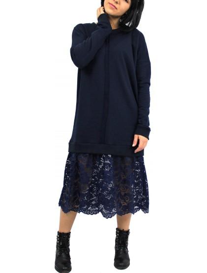 RDI  Рокля блузон тъмно синя