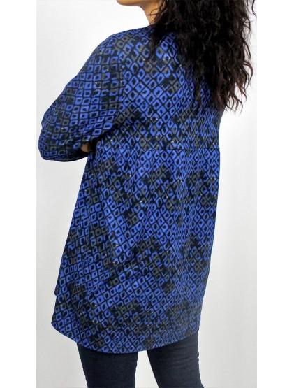 Туника с ромбоиди синя