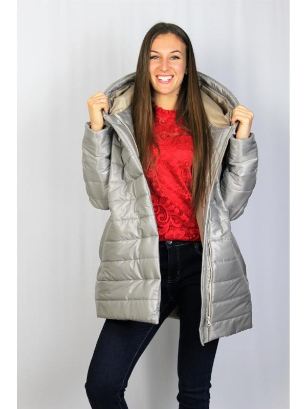 Олекотено  яке бежово -сиво
