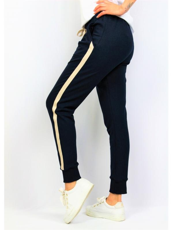 Спортен панталон тъмносин с кант