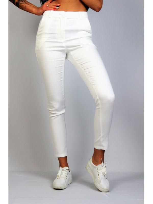 Панталон с италиански джоб бял