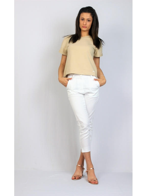 Панталон с цепки бял