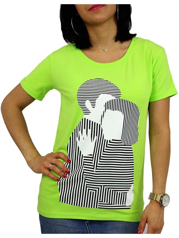 Тениска щампа зелена