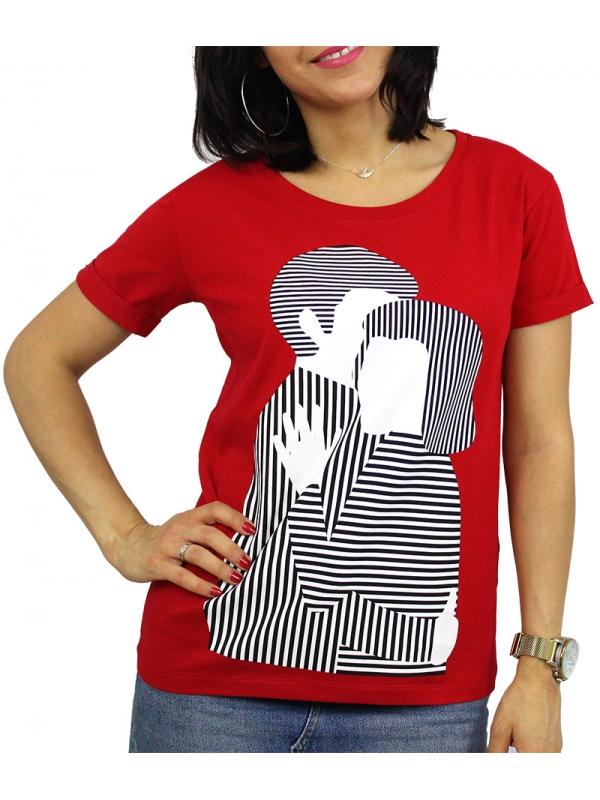 Тениска щампа червена