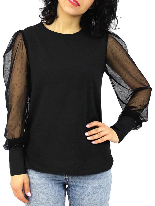 Риза RDI с тюлен ръкав черна