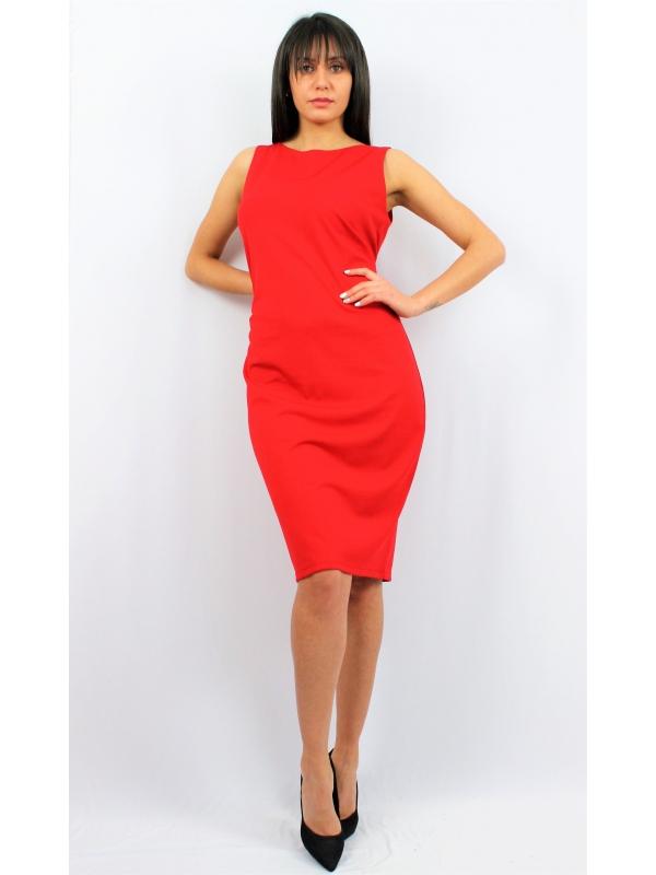 Права рокля червена