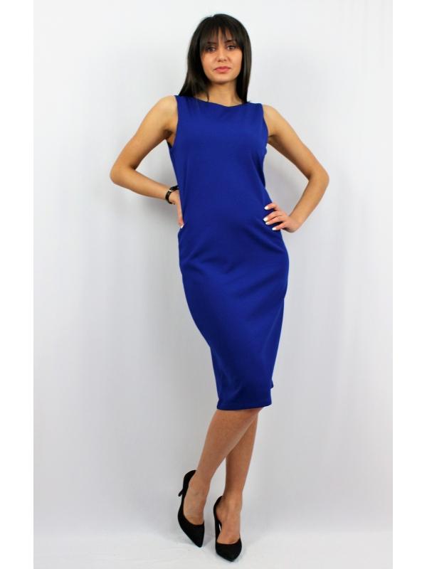 Права рокля кралско синя