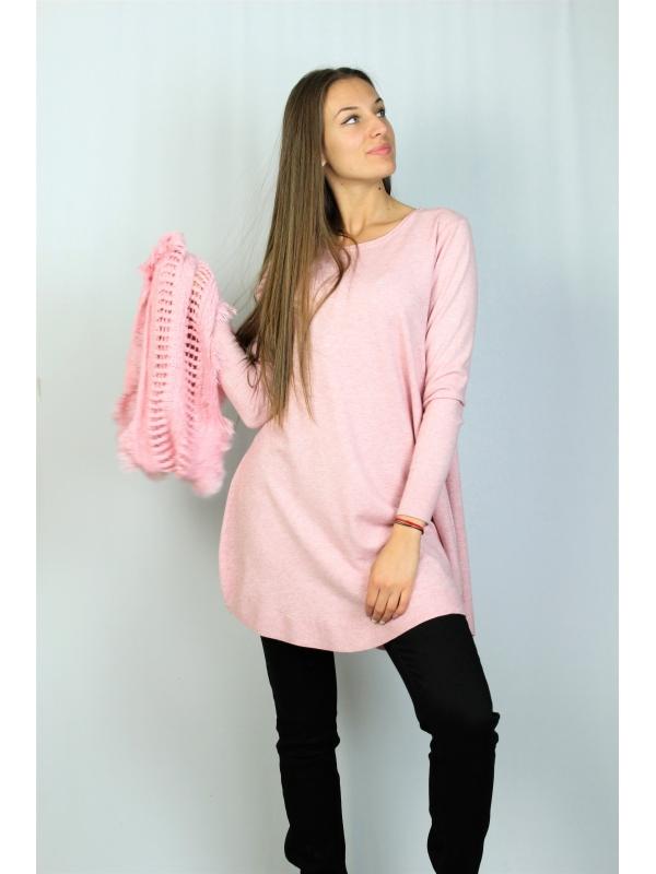Туника с шал розова