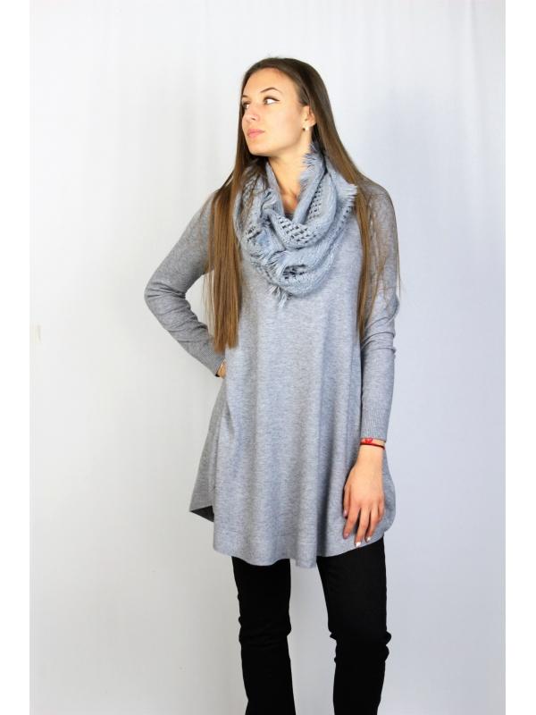 туника с шал сива