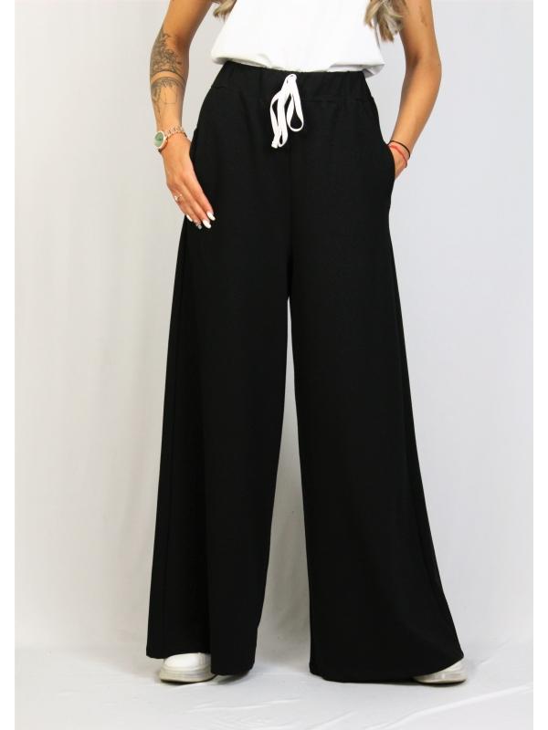 Панталон разкроен черен