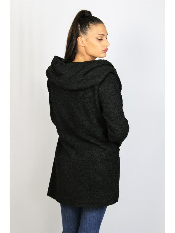 Палто тип жилетка черно