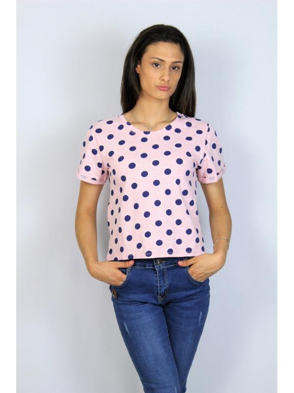 Блуза памук точки