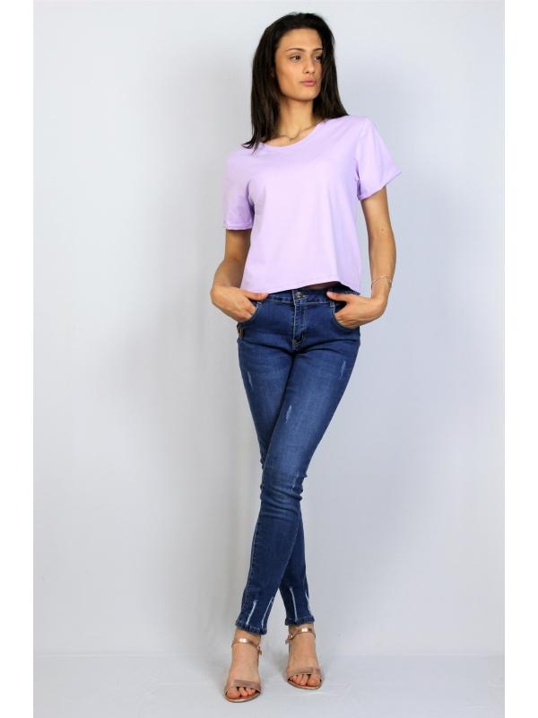 Блуза памук лилава