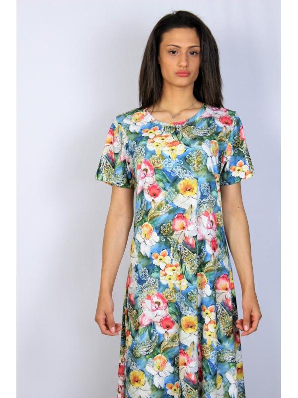 Разкроена рокля цветя