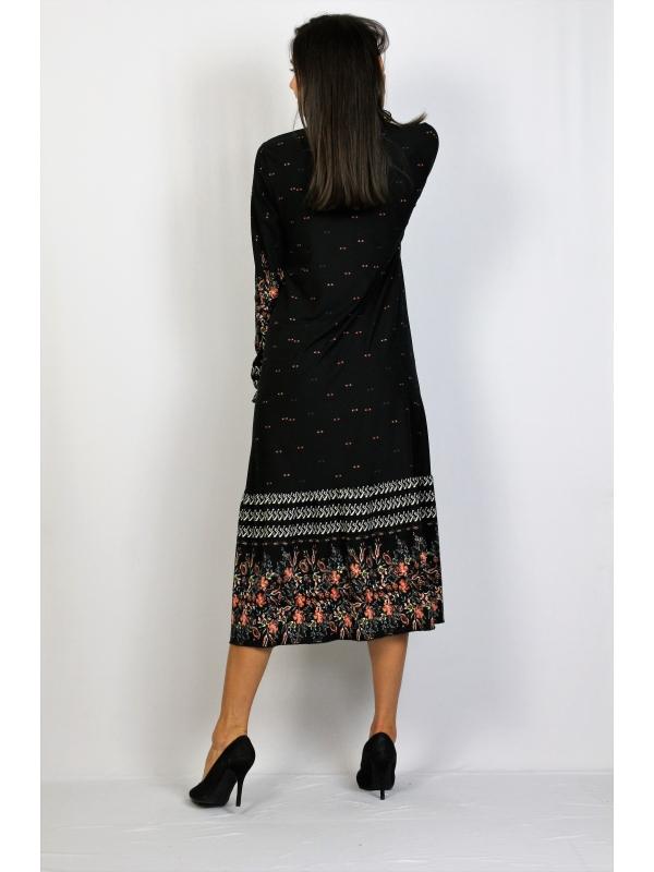 Свободно падаща рокля с къдри