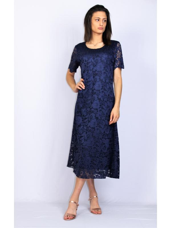 Дантелена рокля тъмносиня
