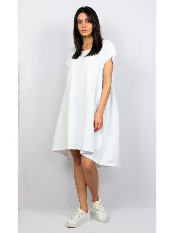 Туника -Рокля памук бяла